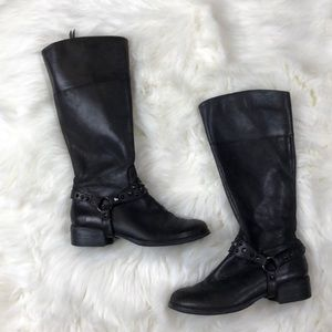 BP Black 6 Studded Moto Tall Boots